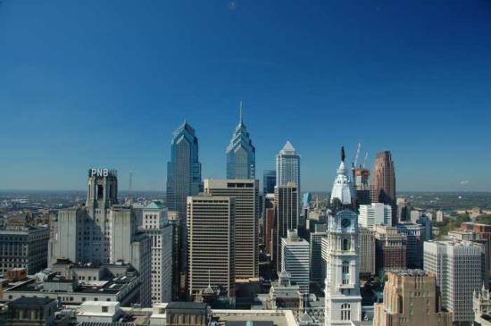 Loews Philadelphia Hotel: view from the 33rd floor, even if you're not staying here !