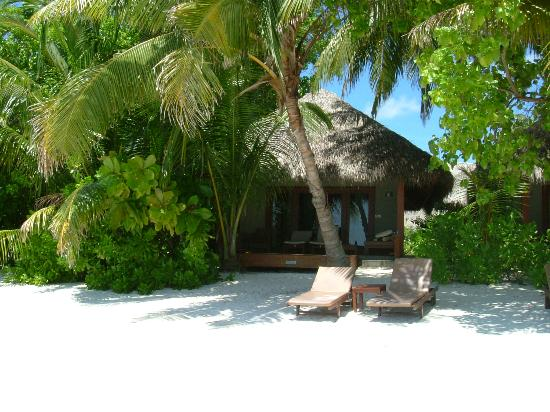 Baros Maldives : Baros Villa as Seen from Beach