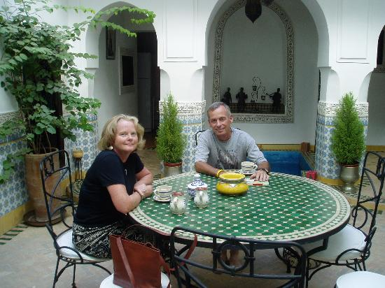 Riad Al Mamoune: Mint tea to cool off in the middle of the afternoon