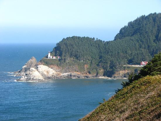 Heceta Head Lighthouse Bed and Breakfast: The light and the cottage