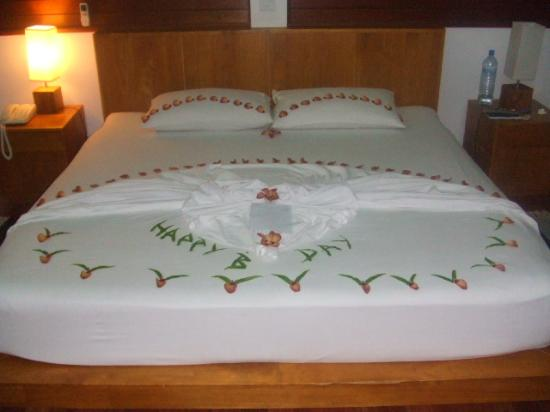 Sujau the room boy decorated my bed on my birthday - Picture of ...
