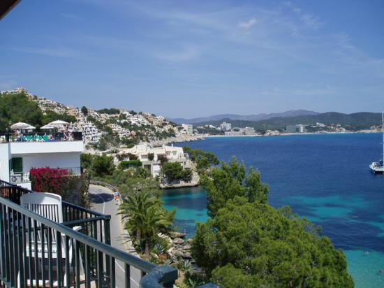 Hotel Cala Fornells: view from rooftop pool
