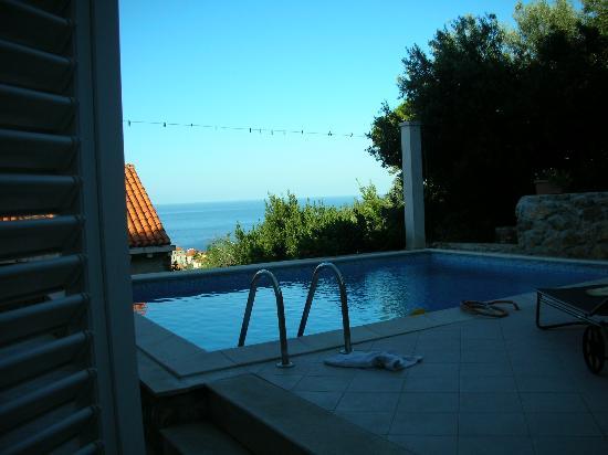 Villa Klaic: View ove the pool