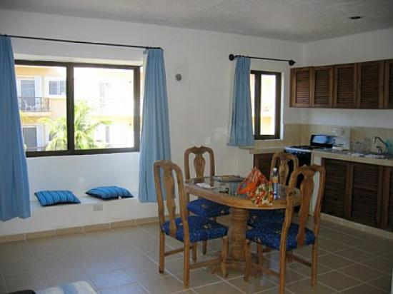 Luna Blue Hotel: the kitchen area room #7