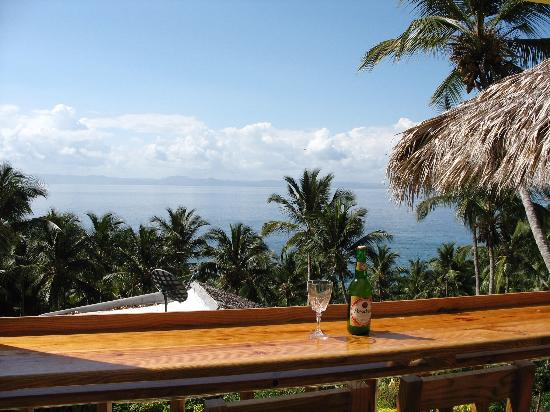 Hotel Ballenas: Cold Presidente and a great view