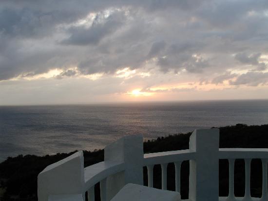 Windjammer Landing Villa Beach Resort: Sunset from Terrace