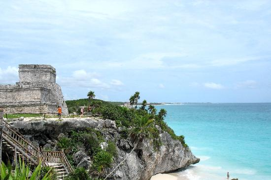 Τουλούμ, Μεξικό: Tulum - El Castillo on cliffside