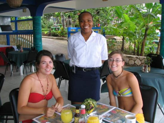 Negril Escape Resort & Spa: In the restaurant with Shirley (who truly helped to make our stay even more special!)