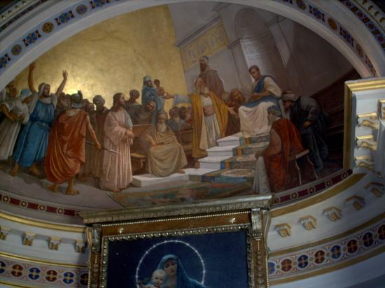 Achilleion Museum: the domed ceiling in the chapel room