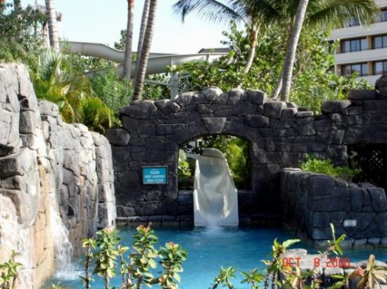 Hyatt Regency Aruba Resort And Water Slide At The Pool