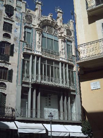 Majorca, Spain: Gaudi building, Palma, Mallorca.