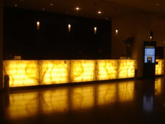InterContinental Hotel Warsaw: the lobby! wonderful!