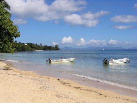 the beach near our home on Taveuni
