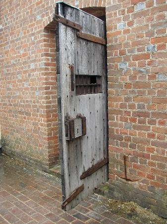 Williamsburg, VA: Door in the Gaol (Jail)