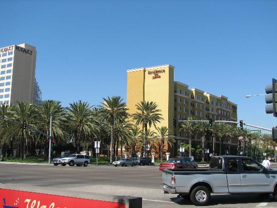 Hotel from corner of harbor and chapman picture of - Sheraton garden grove anaheim south ...