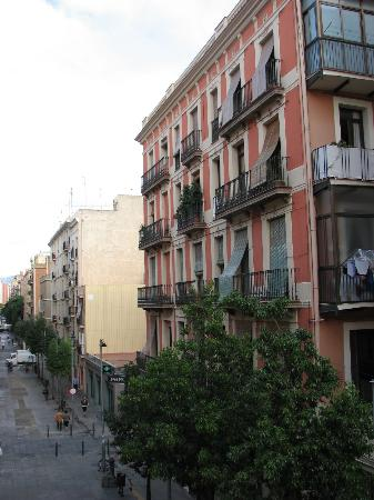 Hostal Barcelona: view from the room