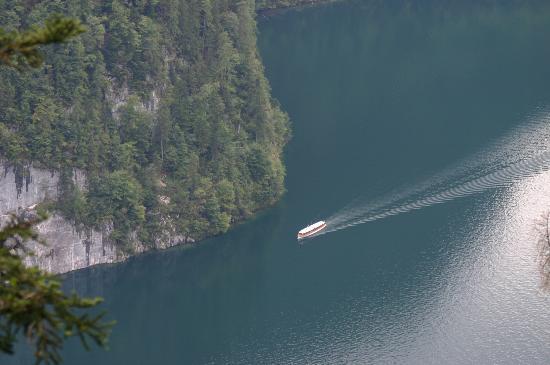 Königssee: konigsee and boat