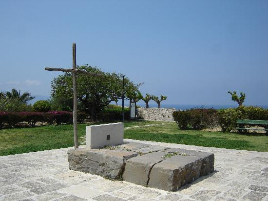 Heraklion, กรีซ: The Tomb of Nikos Kazantzakis in may.
