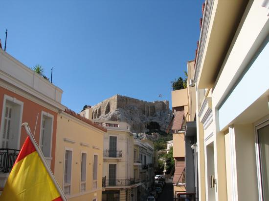 AVA Hotel Athens: Acropolis from 2nd floor room