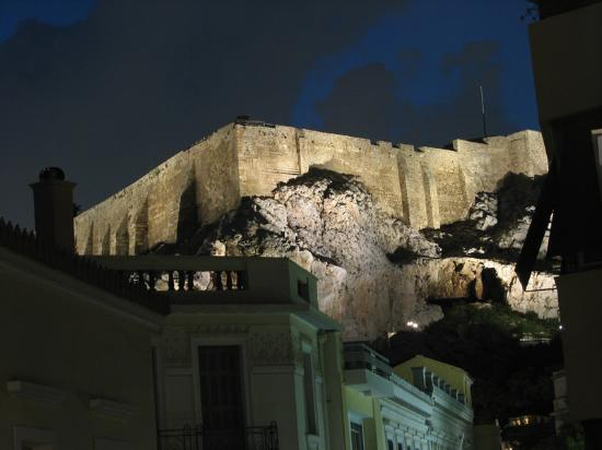 AVA Hotel Athens: Acropolis at Night from room