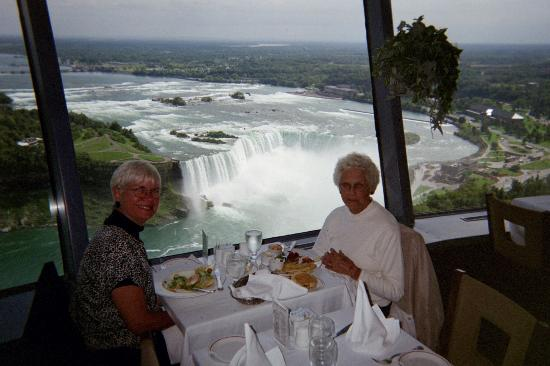 Niagara Falls Canada Horseshoe From Revolving Restaurant In Skylon Tower