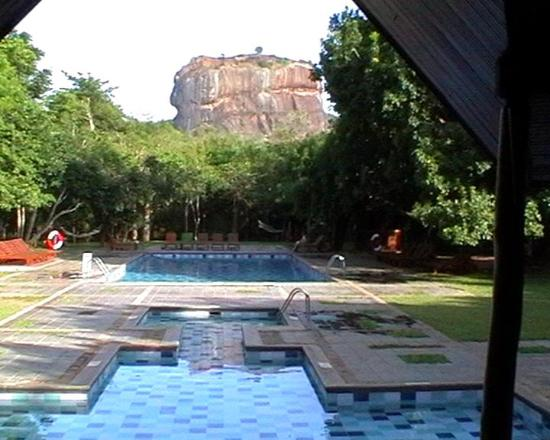 Hotel Mermaid & Club: Lion rock from Sigiriya Hotel