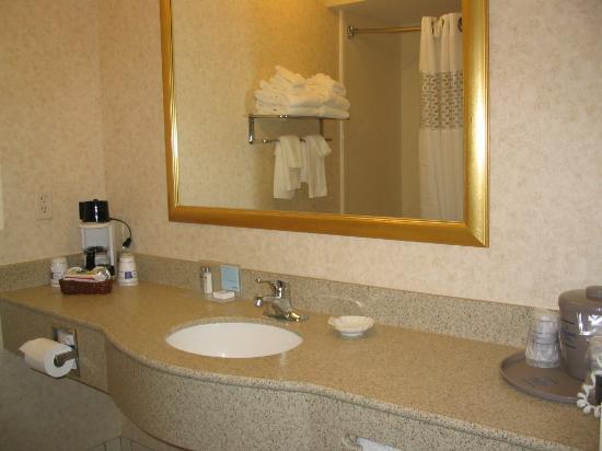 Hampton Inn La Porte: Bathroom vanity