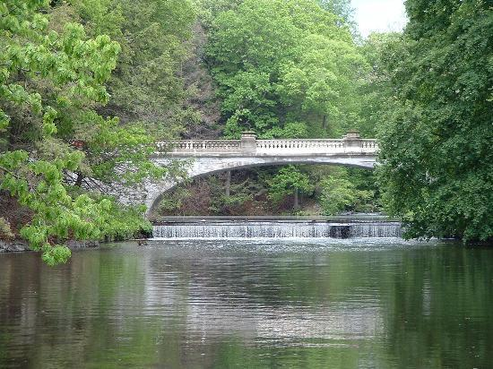 Hyde Park, NY: The White Bridge on the Vanderbilt Mansion Grounds
