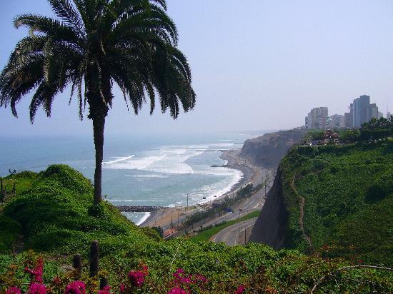 Lima, Peru: miraflores-coastline