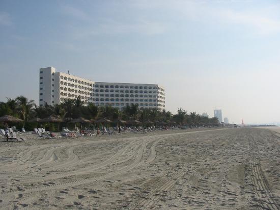 Ajman, Emiratos Árabes Unidos: The hotel from the beach