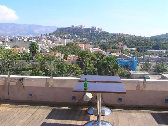 Eridanus Hotel: view from rooftop terrace