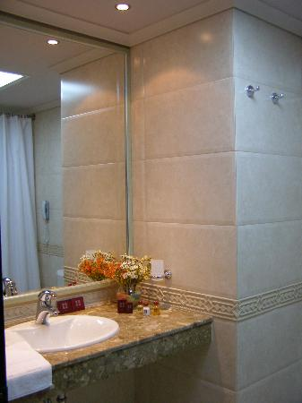 Haskovo, Bulgarien: the hotel room bathroom