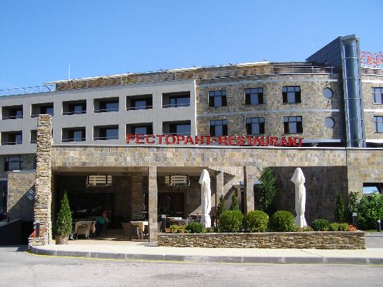 Haskovo, Bulgarien: the hotel restaurant from the outside