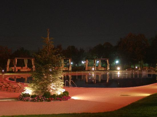 Park Hotel Europe: the outdoor swimming pool by night