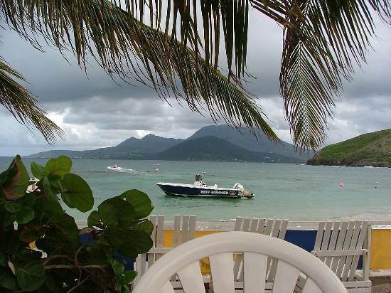 St. Kitts: view from restaurant at Turtle Beach