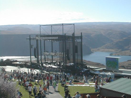 George, WA: The Main Stage, overlooking the gorge