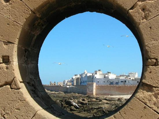Essaouira, Marocko: view from harbour