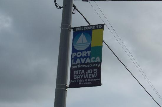 Port Lavaca, Teksas: Welcome Sign