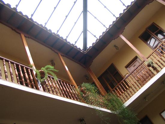 Los Andes De America Hotel: Rooms are above the Lobby Area