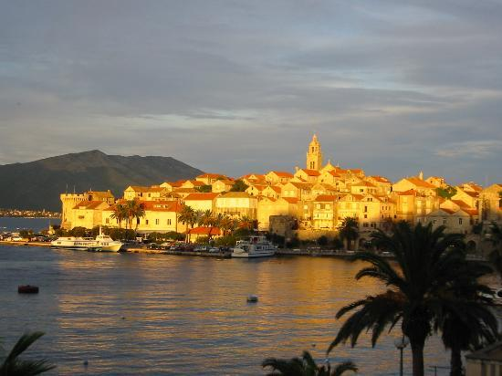 Beautiful Korcula ... the view from the balcony of our 200 kuna apartment!