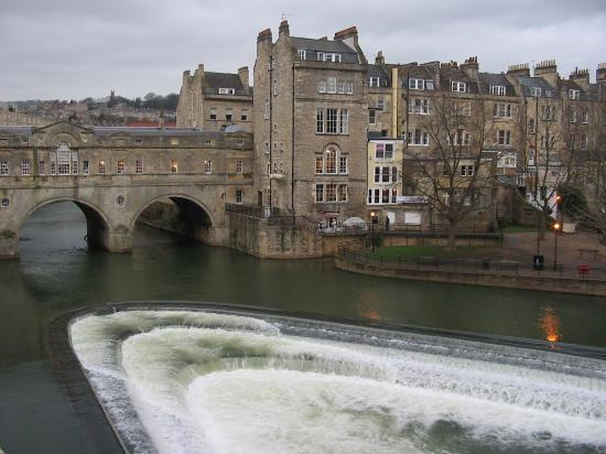 Bath, UK: Another View of Avon River and Putney Bridge