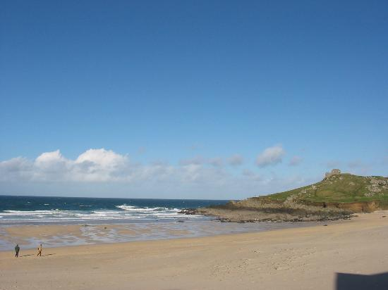 St Ives, UK: View of beach in St. Ives