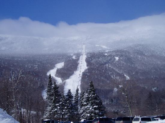 Stowe, VT: Looking up the mountain