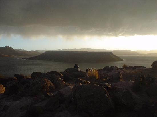 View of Sillustani lake