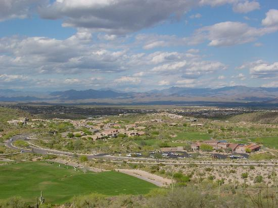 Fountain Hills, AZ: view from villa od Sunridge Canyon Golf Course