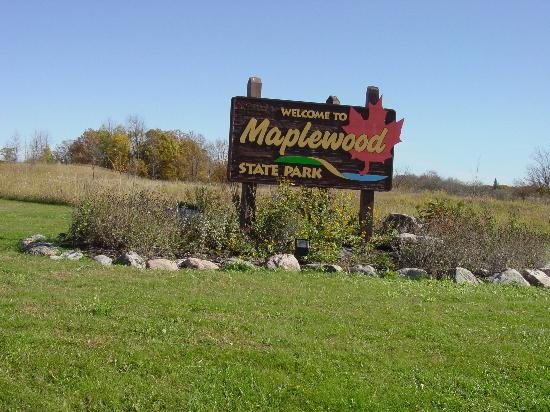 Pelican Rapids, MN: Maplewood State Park Entrance