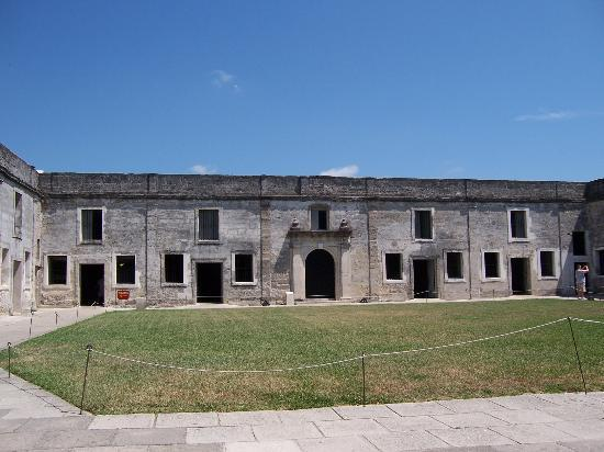 Saint Augustine, FL: The inside of the old fortress