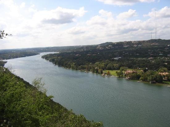 Mount Bonnell, up the river
