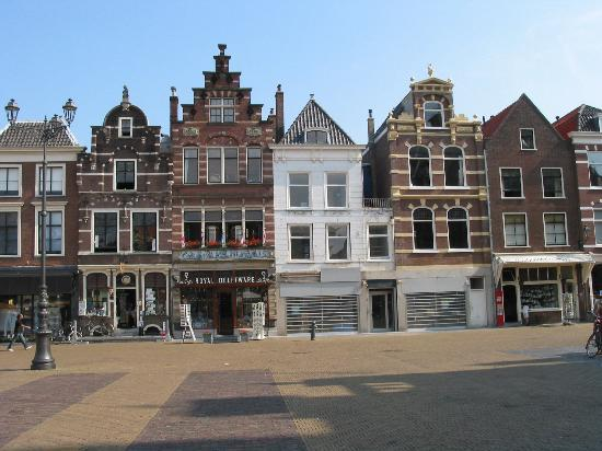 Delft, The Netherlands: Row of Quaint Shops