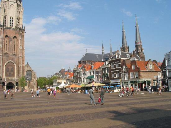 Delft, The Netherlands: City center shops and cafes